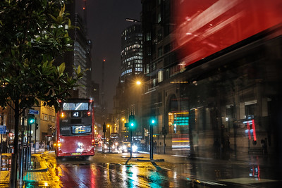 Bishopsgate at night