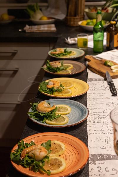 carpaccio de citrons amalfitifs à la roquette et crevettes | carpaccio of Amalfi lemons with rocket and shrimp