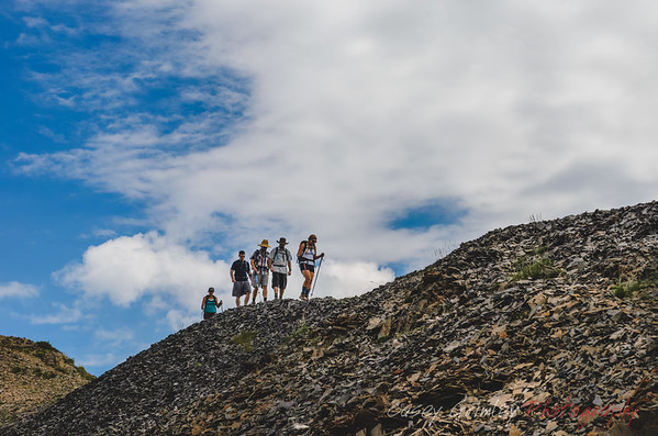 Hikers on a Ridge