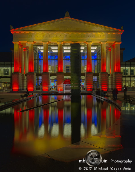 Reflecting Raleigh Memorial Auditorium