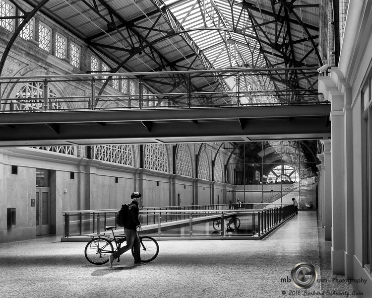 Ferry Building Biker