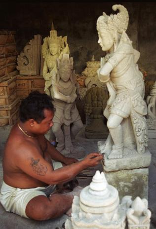 Stone carver, Bali