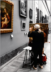 """Copying the Masters"", the Louvre in Paris"