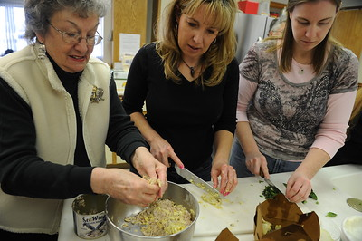 Luc Gerber hosts a cooking workshop called the Whole Ravioli. Trained in Europe, Gerber has worked in many places including some top restaurants in San Francisco, he owns a local restaurant in Elko called Lucianos.   Scenes from the 28th annual National Cowboy Poetry Gathering in Elko Nevada. February 1, 2012.