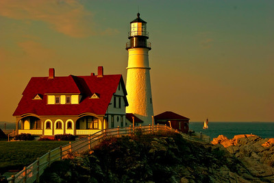 Portland Lighthouse in the Afternoon