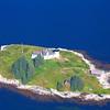 Pumpkin Island Lighthouse Aerial Closeup