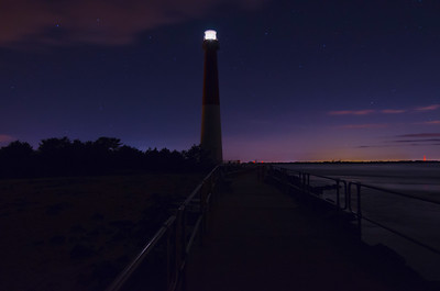 Barnegat Light on a Star Sky