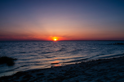Sunset over Delaware Bay