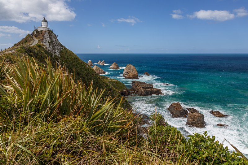 Nugget Point Lighthouse New Zealand.
