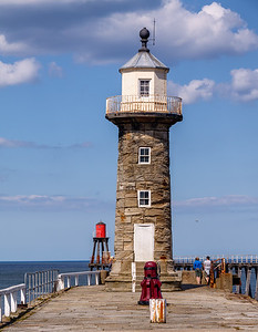 Whitby East Pier Lighthouse.