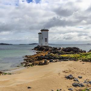 Port Ellen Lighthouse Square composition.