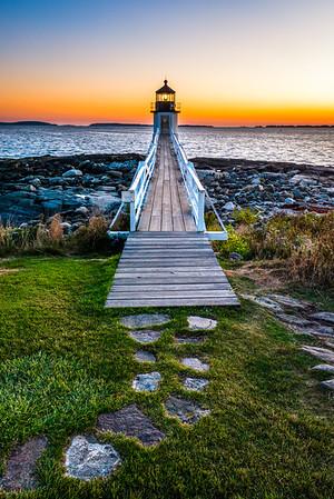 Marshall Point Lighthouse at dusk