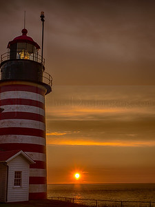 Sunrise at West Quoddy Lighthouse, Lubec, Maine