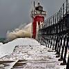 Stormy Lake Michigan