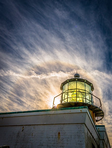 Point Bonita Lighthouse with Sun Halo