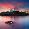 Nubble Lighthouse York Maine at Sunrise