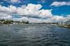 Cumulus Clouds Over the Mystic River