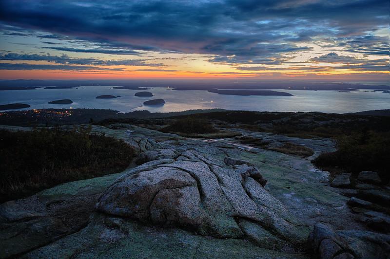 Sunrise from Cadillac Mountain, Acadia National Park