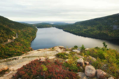 Jordan Pond from South Bubble Mountain, Acadia National Park