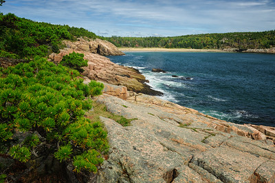 Coastline along Ocean Drive, Acadia National Park