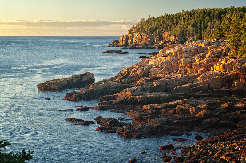 Shoreline along Ocean Drive, Acadia National Park