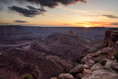 Sunset from Dead Horse Point Stae Park, UT