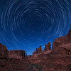 Star Trails above Wall Street, Arches National Park