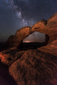 Broken Arch and the Milky Way, Arches National Park
