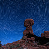 Star Trails above Balanced Rock, Arches National Park