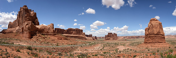 View from the La Sal Mountain Viewpoint, Arches National Park, Utah