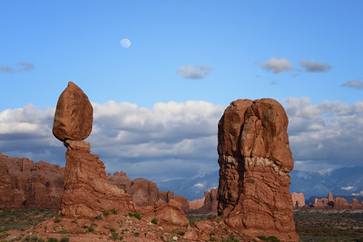 Moonrise at Balanced Rock, Arches National Park