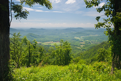 View from Fox Hunter's Paradise Overlook, MP 218.6