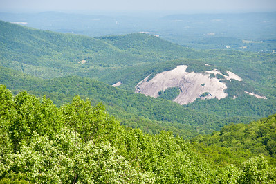 View of Stone Mountain from Blue Ridge Parkway, NC (MP 235.0)