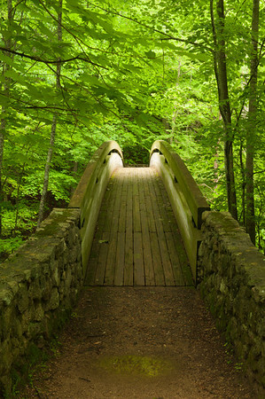 Footbridge over South Fork Tye River, George Washington National Forest, VA