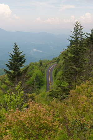 Blue Ridge Parkway from Waterrock Knob overlook (MP 451.2)