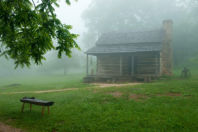 Cabin at Humpback Rocks Visitor Center, MP 5.8