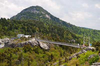Mile High Swinging Bridge and MacRae Peak, Grandfather Mountain, NC