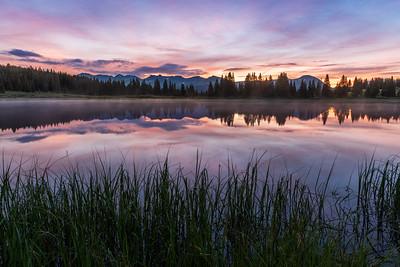 Sunrise at Little Molas Lake