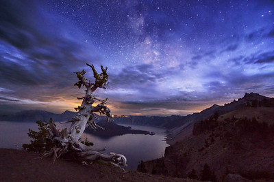 Night Sky over Crater Lake