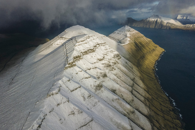 Mountain Peaks Covered in fresh snow.