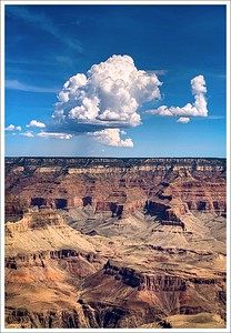 Grand Canyonj, Mather Point, South Rim #landscapes #nationalparks #clouds #ic_lancscapes