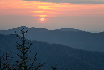 Sunset from Clingmans Dome Road, Great Smoky Mountains National Park