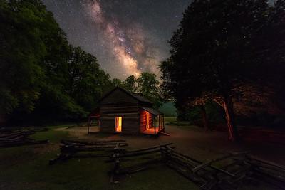 Summer Night at John Oliver's Cabin