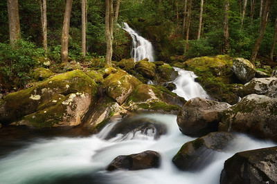 Mouse Creek Falls empties into Big Creek, Great Smoky Mountains National Park