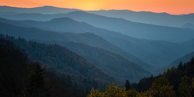 Oconaluftee Valley Overlook, Great Smoky Mountains National Park