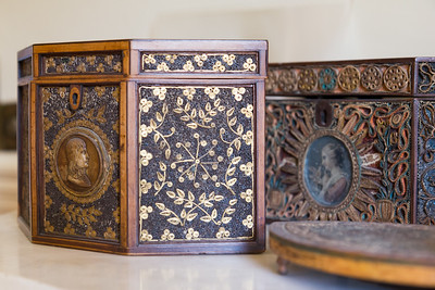 Boxes made from paper by prisoners of war during the Napoleonic Wars.