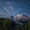 Star Trails over Mt. Rainier