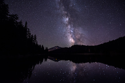 Milky Way over Mt. Bachelor and Todd Lake, Oregon