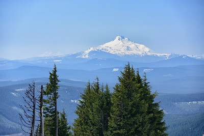 Mount Jefferson, view from Mount Hood (46 miles away), Oregon
