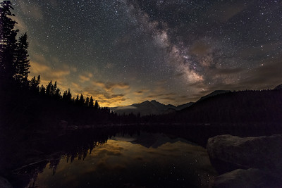 Milky Way over Bear Lake
